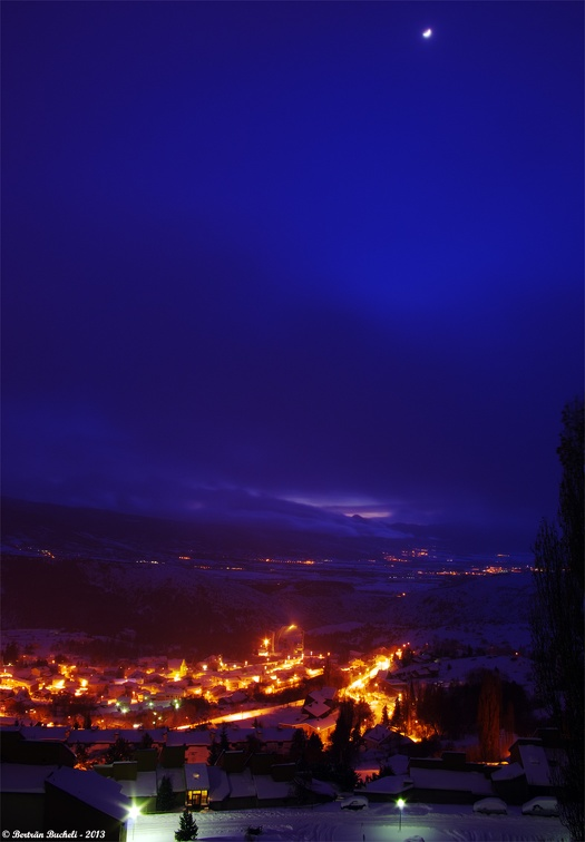 La nuit tombe sur Font-Romeu... Photo 15.01.2013