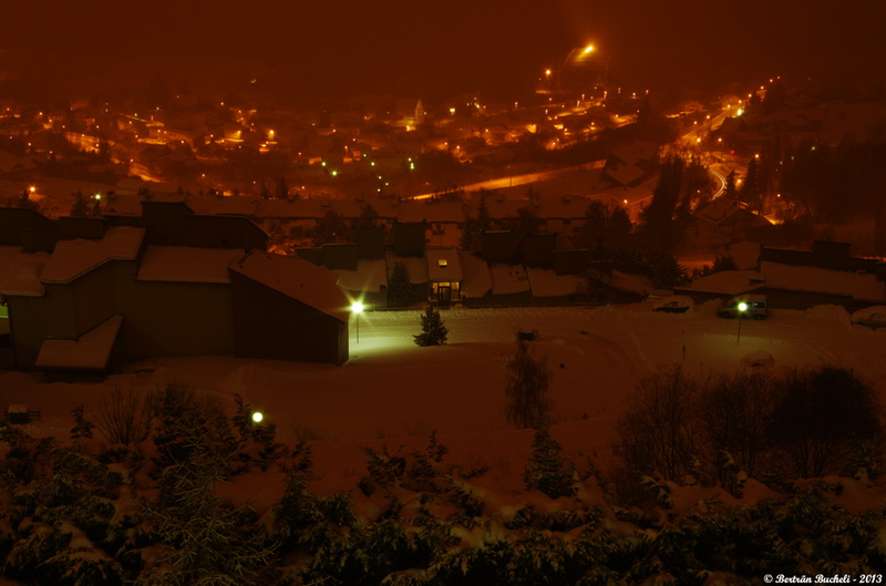Font Romeu de nuit. Photo 16.01.13